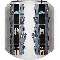 Happy Mart クリエイティブ 折りたたみ式 ストレージバッグ 布オーガナイザー 靴 オーガナイザー バッグ 収納 整理 ドア ワードローブ リビングルーム gray グレー