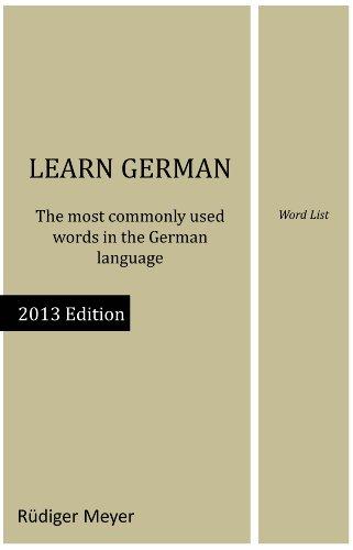 amazon learn german word list english edition kindle edition