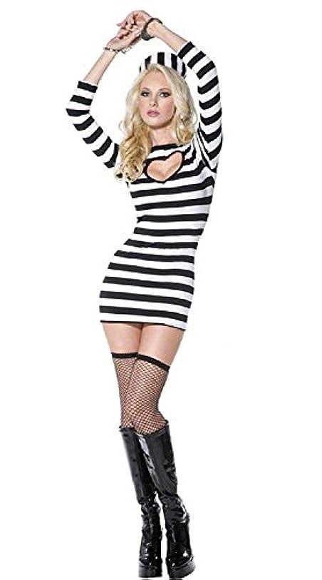 柱判定真鍮囚人服 レディース コスプレ 女性 衣装 コスチューム ハロウィン 仮装