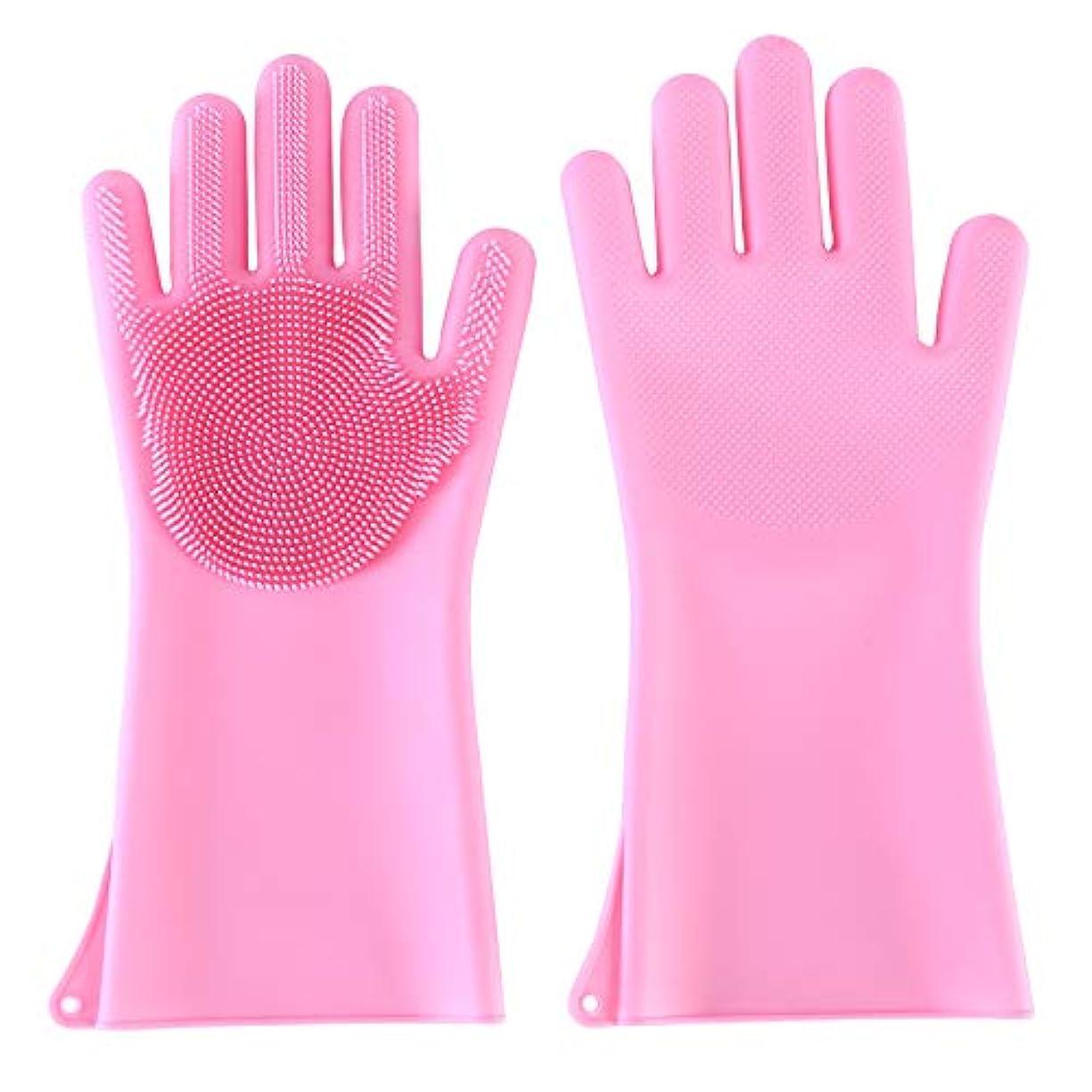 恵み面積収縮BTXXYJP ペット ブラシ 手袋 猫 ブラシ グローブ 耐摩耗 クリーナー 抜け毛取り マッサージブラシ 犬 グローブ お手入れ (Color : Pink)