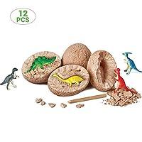 恐竜の卵 恐竜卵のおもちゃ 化石発掘おもちゃ 発掘体験 恐竜 景品 12個セット 考古学 シミュレーション 恐竜化石 DIY 面白い ギフト
