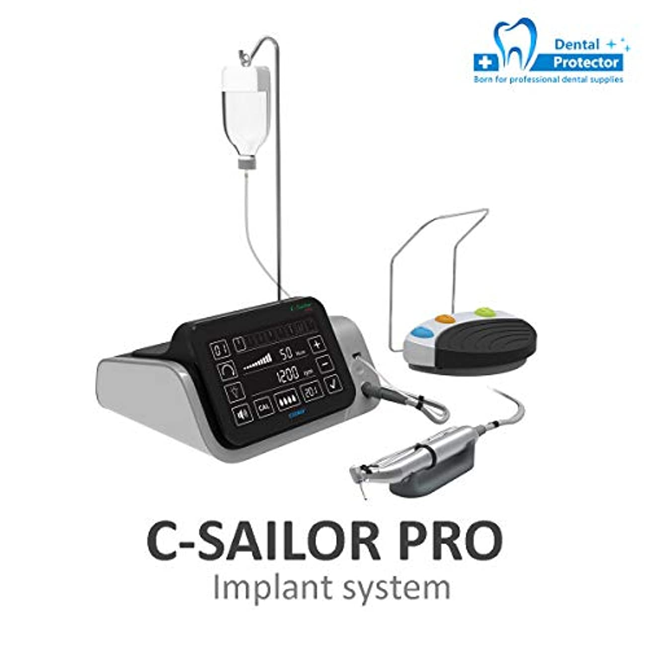 COXO 歯科インプラントモーター、 C-Sailor Pro 歯科用フィジカルサージカルモーター 1つの80 N.cmの対照的な角度を使って 強い力、 光ファイバーLEDライト タッチスクリーン制御