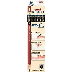 三菱鉛筆 鉛筆 硬筆書写用 三角軸 4B 1ダース UKS3K4B