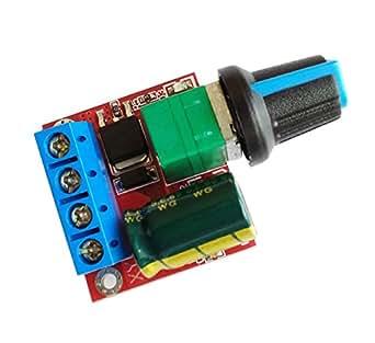 KKHMF 5Aミニ DC モータ PWM 速度コント ローラー 3V-35V スピード コントロール スイッチ LED 調光器