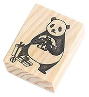 クリエイティブスタンプセット 木製ゴム印セット 執筆のためのスタンプ(2 PCS) #36