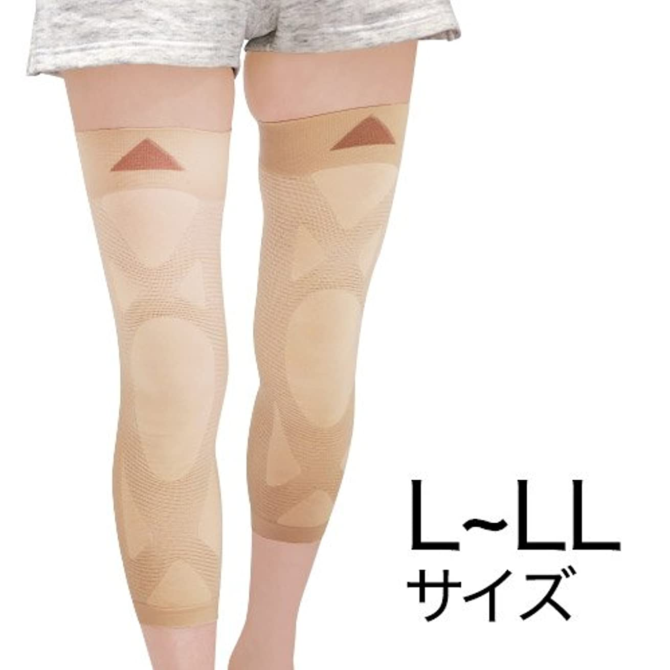 受け継ぐ意図的やさしいナチュラルガーデン 膝楽サポーター L~LL(左右共通2枚組)