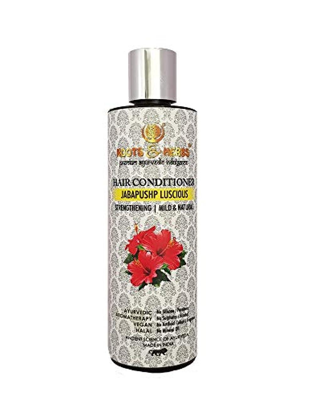 扇動する段階原子炉Roots & Herbs Ayurvedic Natural Treatment 100% Vegan No Paraben Jabapushp Lucious Hair Conditioner for Men and Women - 200 ml