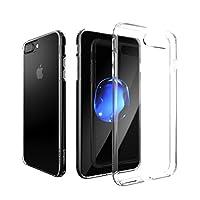 iPhone7 Plus クリア ケース 背面ガラスパネル + 衝撃吸収バンパー 新しい ハイブリッドケース ウルトラ ハイブリッド 硬度9H クリスタル 超高透明度94% HYBGP-I7P-CLR729