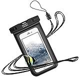 スマホ防水ケース iPhone Android に対応 [IPX8認定] 携帯 水中撮影 タッチ可 風呂 雪遊び 水泳 海など適用