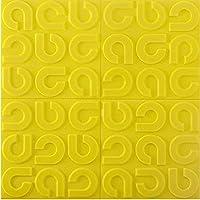 皮をむくとスティック 3 d 幾何学模様 壁パネル, 環境保護 XPE フォーム 背景 ベースボード 壁の装飾-黄色いー-e