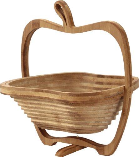 不二貿易 りんご バスケット  Mサイズ(25.6x22cm) 12702