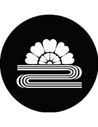 家紋シール 山吹に水紋 布タイプ 直径40mm 6枚セット NS4-1632