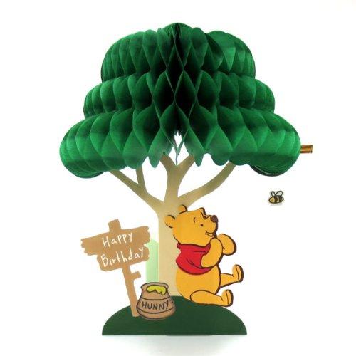ディズニーハニカムバースデーカード くまのプーさん hc-1000050282 立てて飾れます お誕生祝い/グリーティングカード APJ/アートプリントジャパン