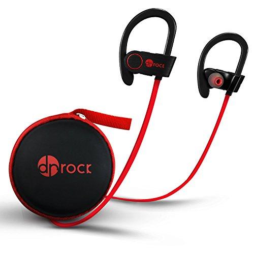 Dr Rock Bluetooth イヤホン 超小型 軽量 ワイヤレスイヤホン 高音質 スポーツ仕様 内蔵式マイクIPX5防水 防汗対応 ハンズフリー通話 機種全種共通 (マット ブラック)
