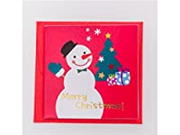 FenBuGu-JP 封筒と4つのクリスマスの挨拶状招待状カードギフトカード(ランダムスタイル)