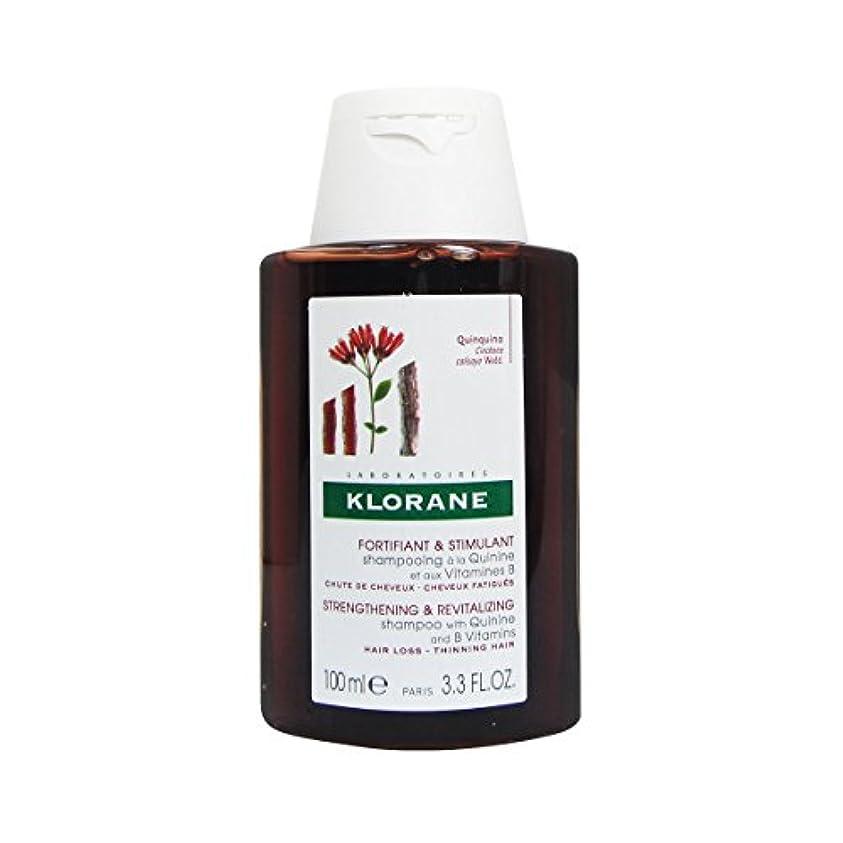 噴水悪意無視できるKlorane Quinine Fortifying Shampoo 100ml [並行輸入品]