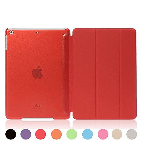[ライブリーライフ]iPad ミニ カバー iPad mini ケース mini1 mini2 mini3対応 超薄型 三つ折り スタンド 全9色(iPad mini1/2/3,レッド)