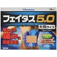 【第2類医薬品】フェイタス5.0大判サイズ 14枚 ×3 ※セルフメディケーション税制対象商品