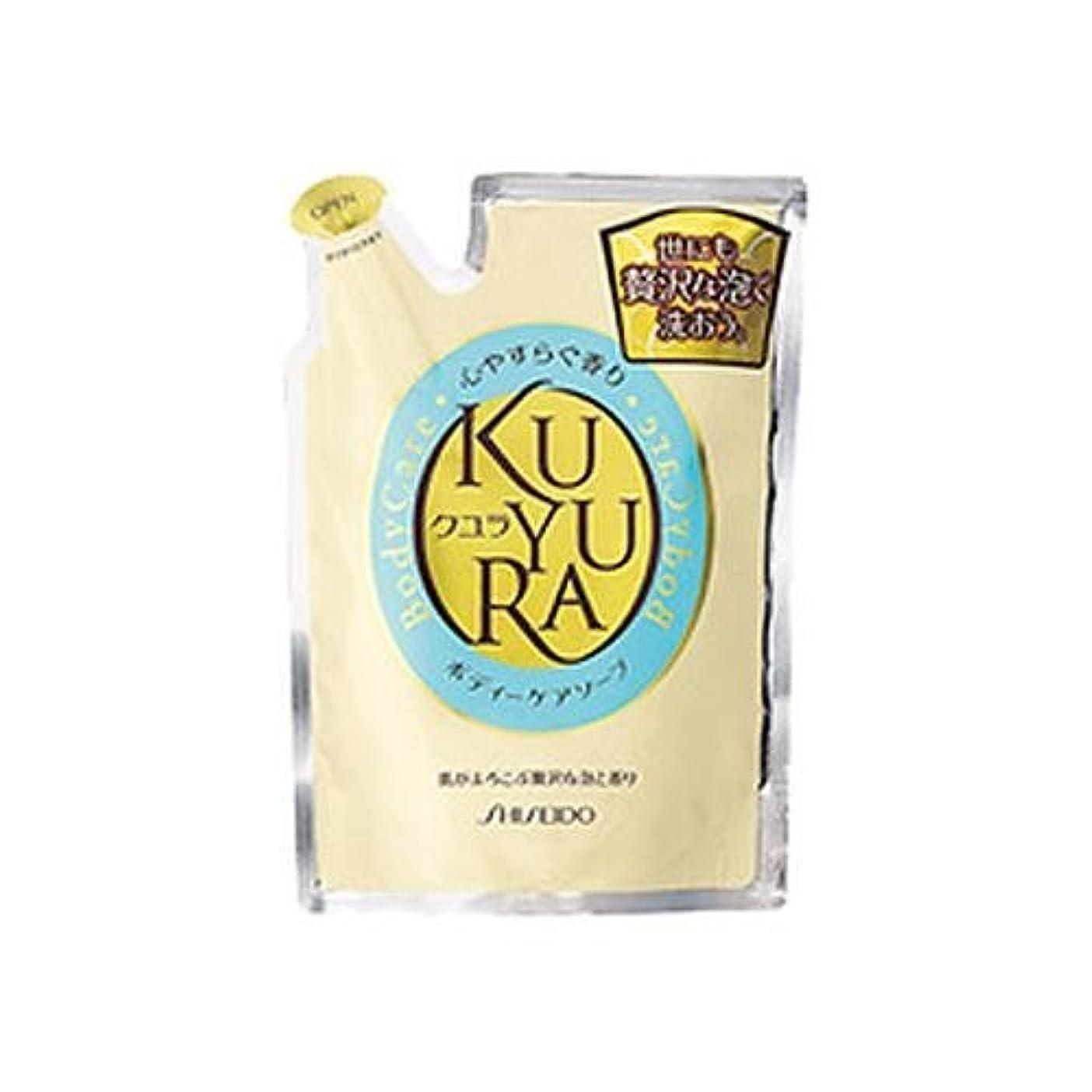 磁器連合王位資生堂 クユラ ボディケアソープ 心やすらぐ香り つめかえ用400ml×18点セット (4901872836260)