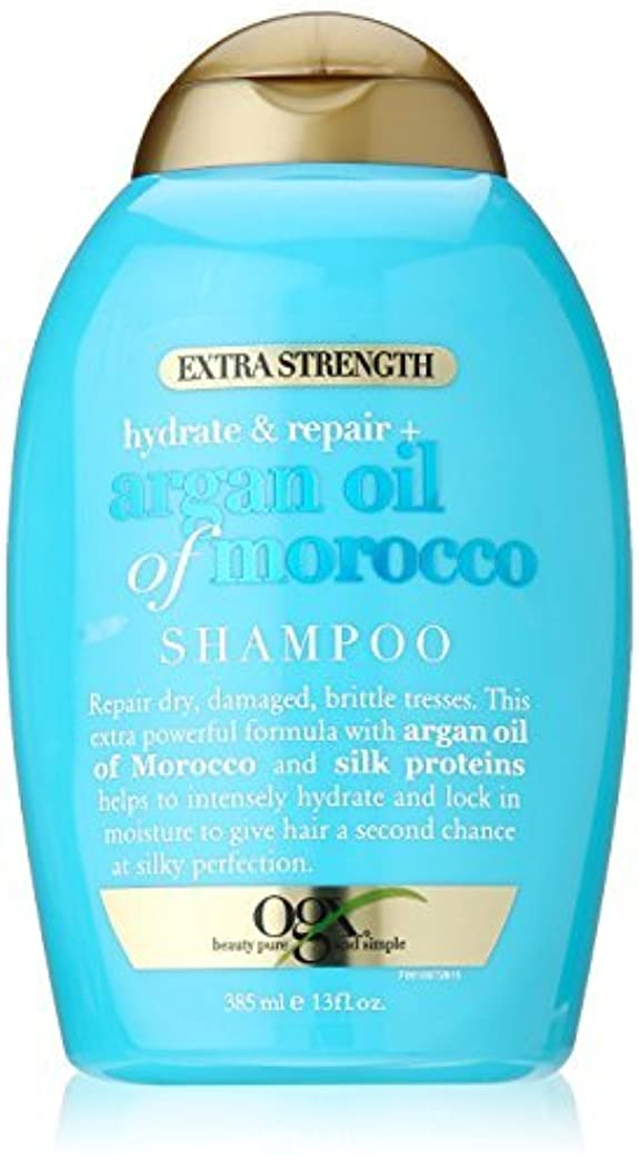 余分な滑るオーバーコートOGX Hydrate Plus Repair Argan Oil of Morocco Extra Strength Shampoo, 13 Ounce [並行輸入品]