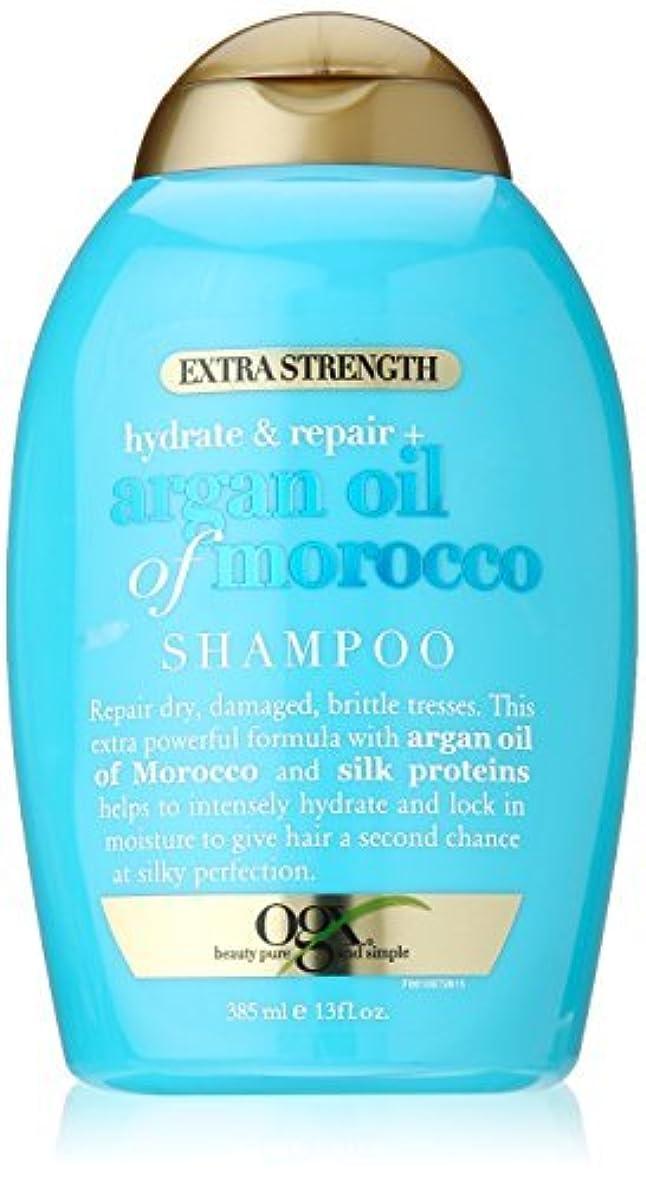毎月線旋回OGX Hydrate Plus Repair Argan Oil of Morocco Extra Strength Shampoo, 13 Ounce [並行輸入品]