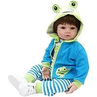 KESOTO ブルー服付き 19インチリボーンドール 赤ちゃん人形 新生児ドール おもちゃ