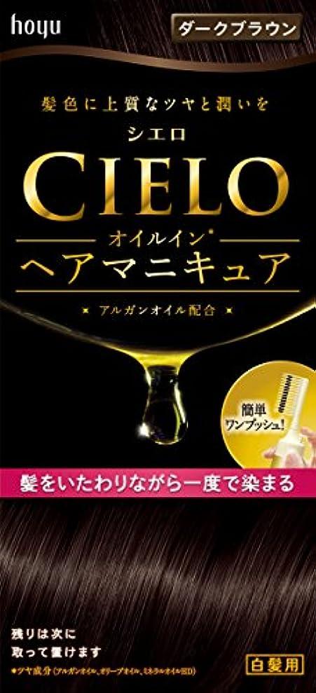 シエロ オイルインヘアマニキュア ダークブラウン 100g+3g+10g