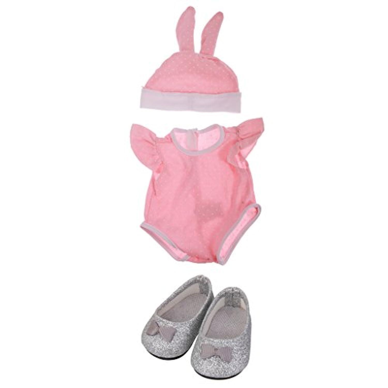 Lovoski 3件 ワンピース 靴 ラビット ハット 服 衣装  18インチアメリカンガール人形適用 贈り物