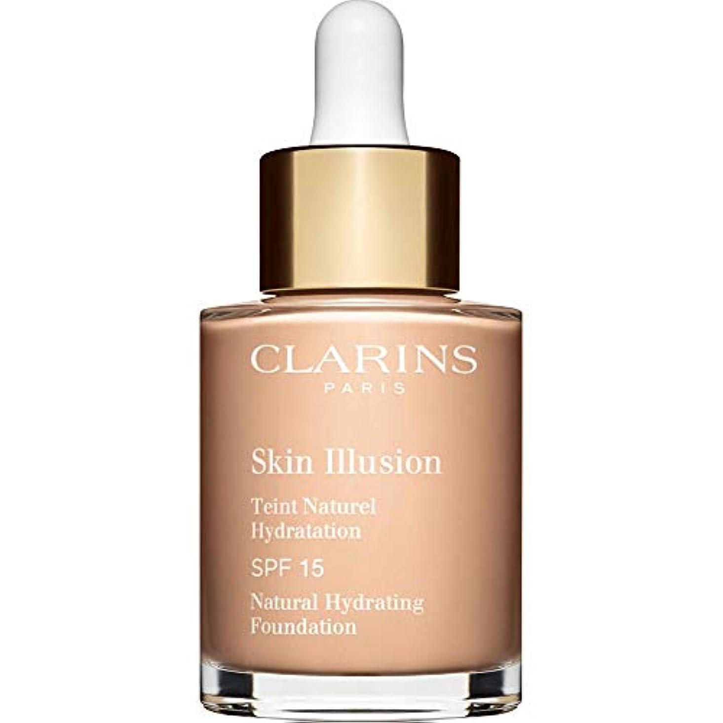 思春期シェア日曜日[Clarins] クラランススキンイリュージョン自然の水和基盤Spf15 30ミリリットル102.5 - 磁器 - Clarins Skin Illusion Natural Hydrating Foundation...