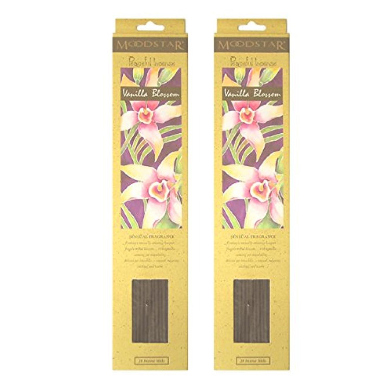 シンプルなビルマ病者MOODSTAR ムードスター Vanilla Blossom バニラ?ブロッサム お香 20本 X 2パック (40本)