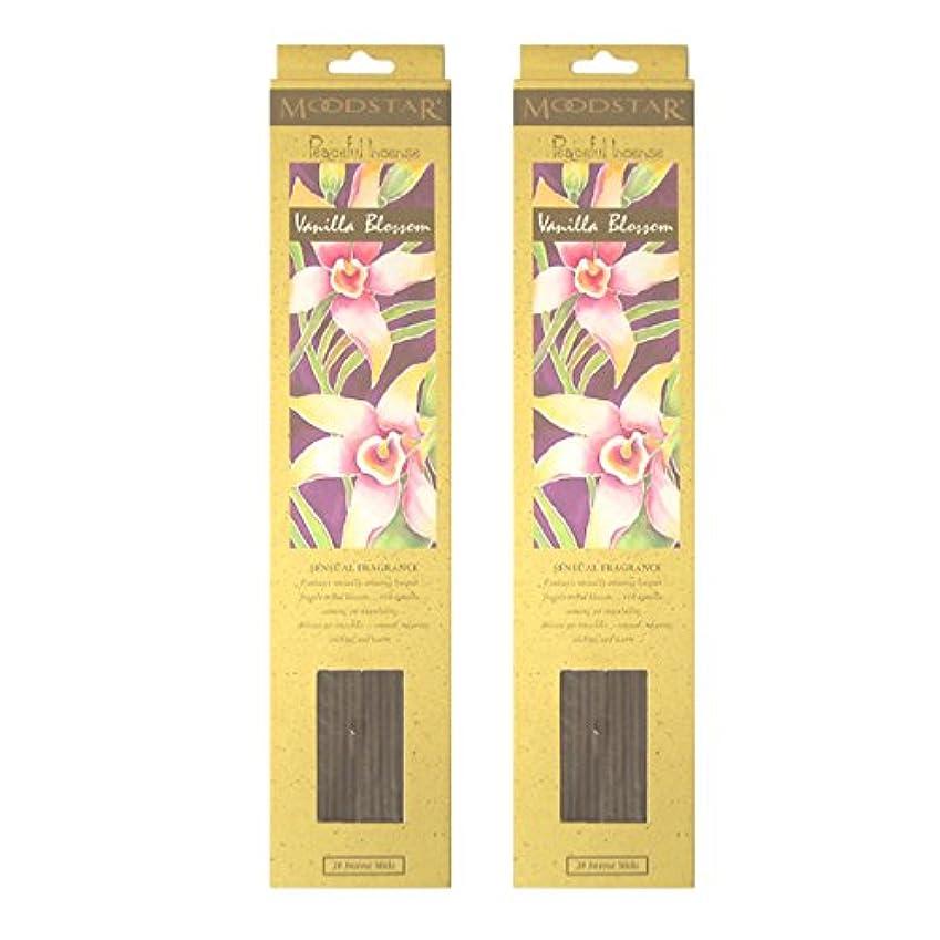より良い実際のねじれMOODSTAR ムードスター Vanilla Blossom バニラ?ブロッサム お香 20本 X 2パック (40本)