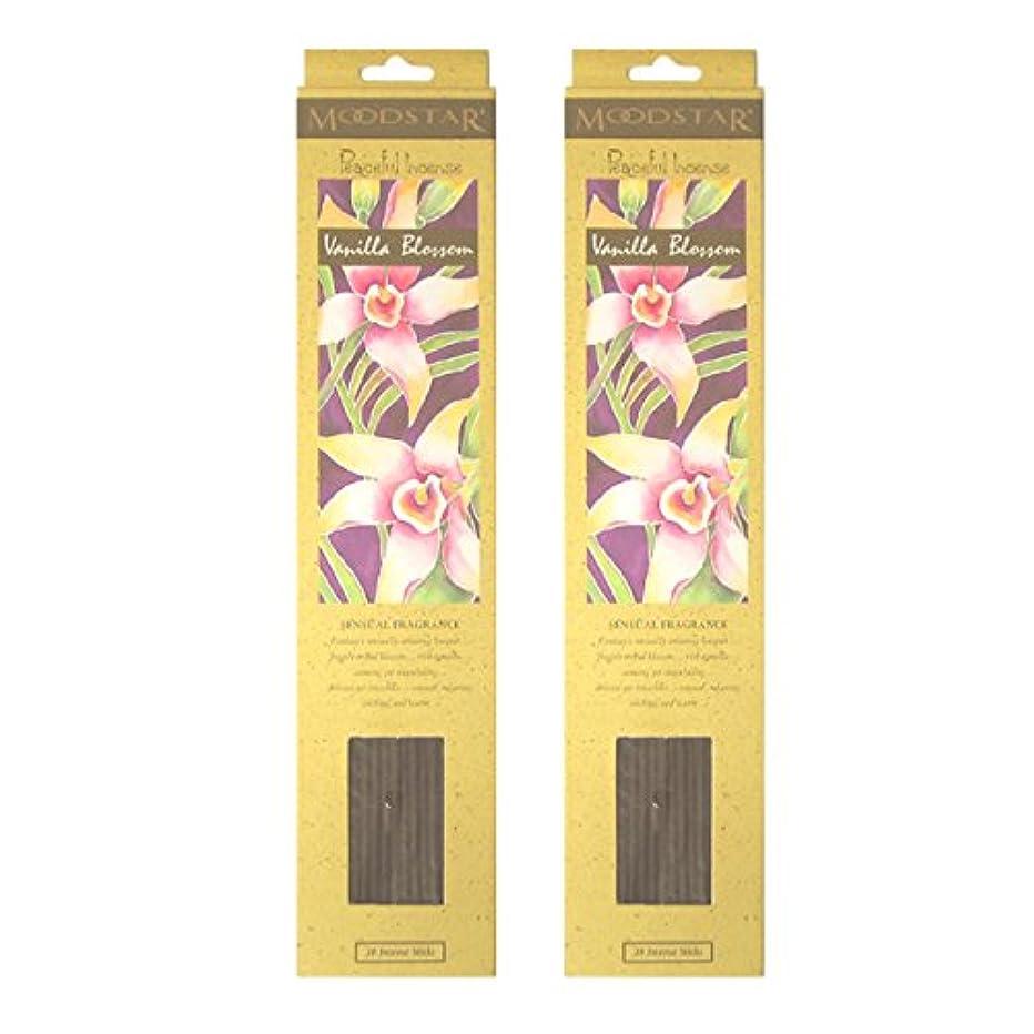 五言う神MOODSTAR ムードスター Vanilla Blossom バニラ?ブロッサム お香 20本 X 2パック (40本)