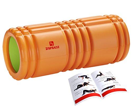 DB Praise フォームローラー Foam Roller 7色 スポーツ トレーニング ストレッチ 器具 解説書付き (T Orange)