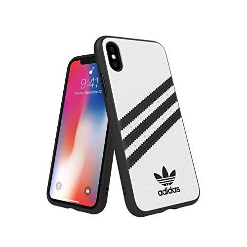 Adidas 31600 OR SAMBA Moulded Case PU FW18 white/black 〔iPhone XS/X用〕