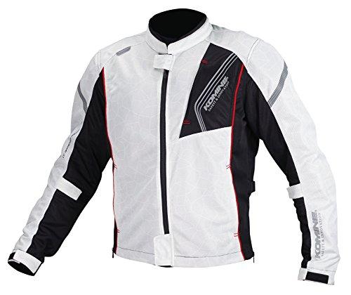 コミネ KOMINE バイク プロテクトフル メッシュ ジャケット アウター プロテクター 通気性 Silver/Black 2XL 07-128 JK-128