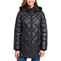 Andrew Marc Women's Long Puffer Jacket with Hood
