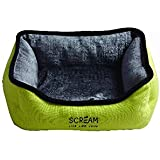 SCREAM Rectangle Small Animal Bed 30x27x12cm, Loud Green