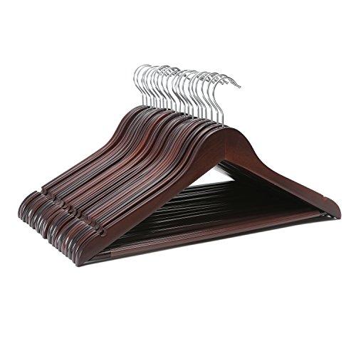 Artallソリッド木製スーツハンガーノ...