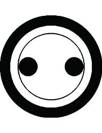 家紋シール 丸に分銅紋 布タイプ 直径40mm 6枚セット NS4-0748