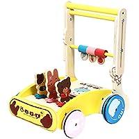 WOLFBUSH 木製ベビーラーニングウォーカー 折りたたみ式ベビーウォーカー 車輪付き ベビーウォーカー 1~3歳の赤ちゃん用 - ノーマルバージョン 30×39cm 240N59K16E34UXD9JC