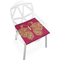 座布団 低反発 赤 蝶々 ビロード 椅子用 オフィス 車 洗える 40x40 かわいい おしゃれ ファスナー ふわふわ fohoo 学校