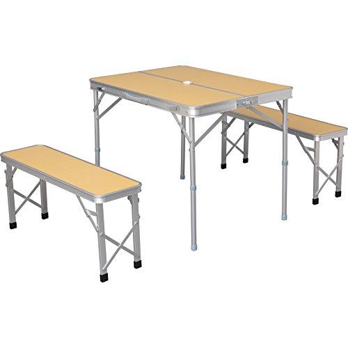 アイリスプラザ テーブル ベンチ セット アウトドア 幅90...