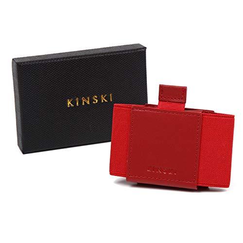 KINSKI(キンスキー) クレジットカードケース 免許証ケース ミニ財布 ミニウォレット【メンズレディース使えるカラーバリエーション】(レッド)