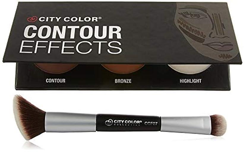 マントルバーターコンデンサーCITY COLOR Contour Dual-Ended Brush (並行輸入品)