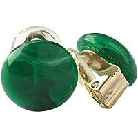 イヤリング 痛くない ピアスに見える Colorful Marble Earring Green