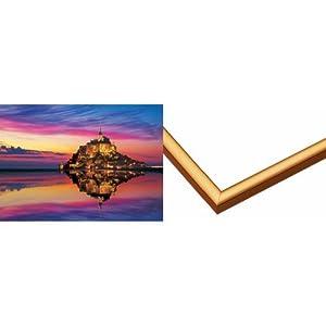 3000スモールピース モン・サン・ミシェルとその湾VII アルミフレームセット ゴールド