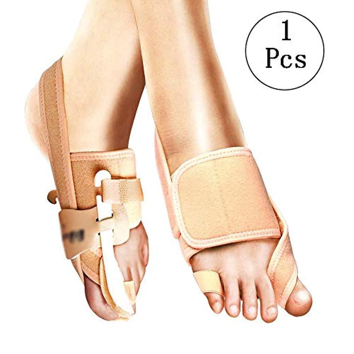 平らにする観察する対話つま先セパレーター付きの足の親指矯正器、男性と女性の柔らかいガスケット痛みを伴う外反母外傷スプレッダー大きな足装具包帯,LeftFoot-S