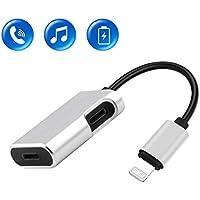 IMICHAEL [進化版] iPhoneイヤホン変換ケーブル イヤホン変換アダプター イヤホン変換2in1 Lightning コネクタiPhone 7/7 Plus/ 8/8 Plus/X イヤホンジャック 音楽 急速充電 通話対応