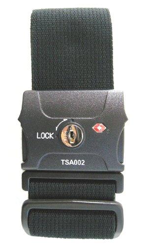 TSAロック付スーツケースベルト ブラック 210004