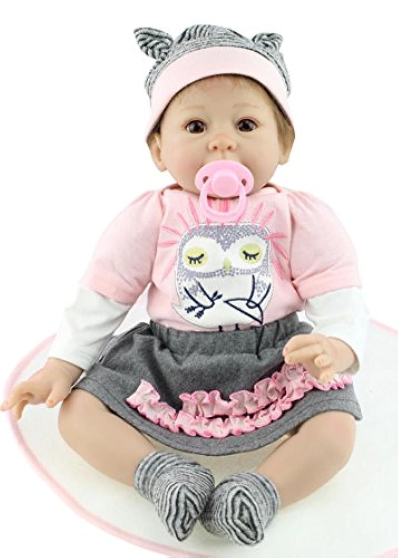 NPK COLLECTION 55cm リボーンドール きせかえ人形 抱き人形 ドール 可愛い赤ちゃん 誕生日プレゼント プレゼント 赤ちゃん